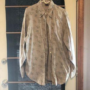 GAP vintage print linen shirt, size M